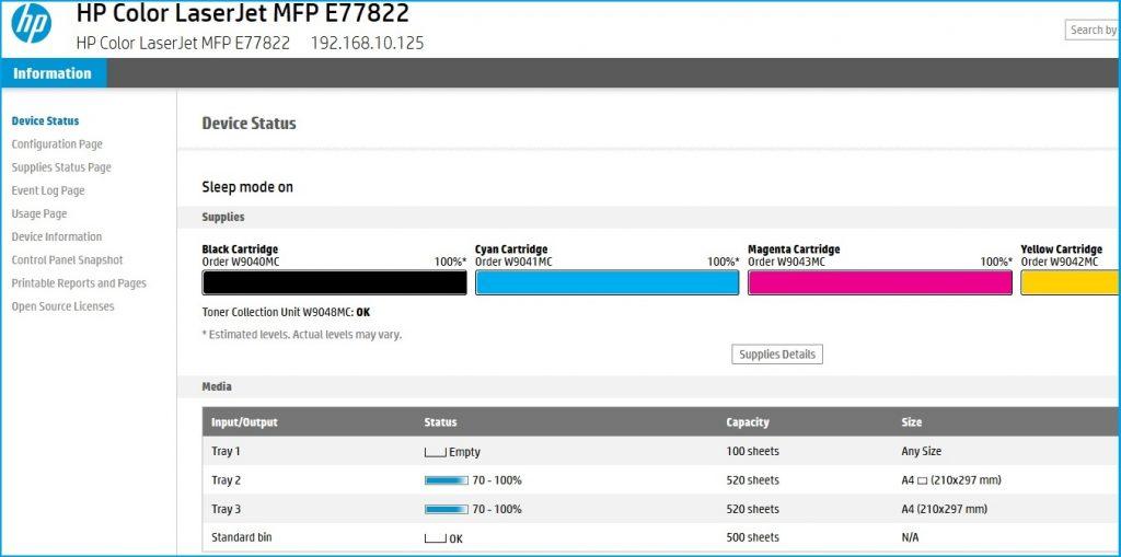 EWS-Fernzugriff auf HP-Drucker