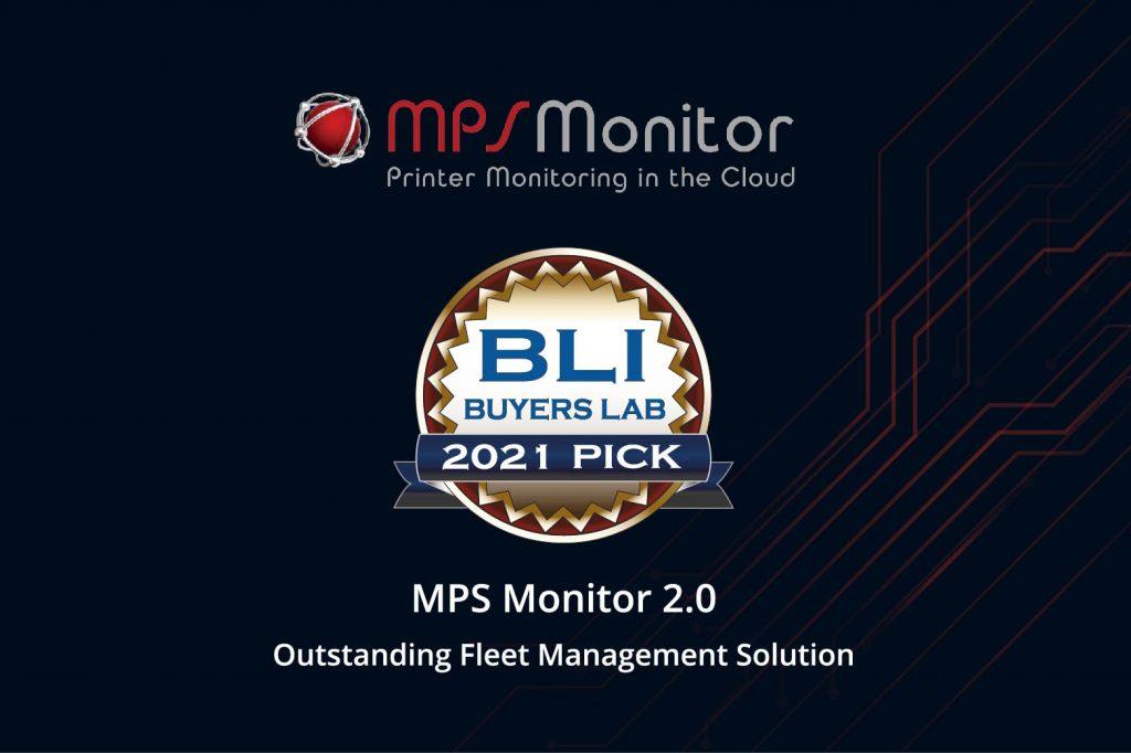 MPS Monitor 2.0 erhält den BLI 2021 Pick Award von Keypoint Intelligence für die herausragende Flottenmanagement-Lösung