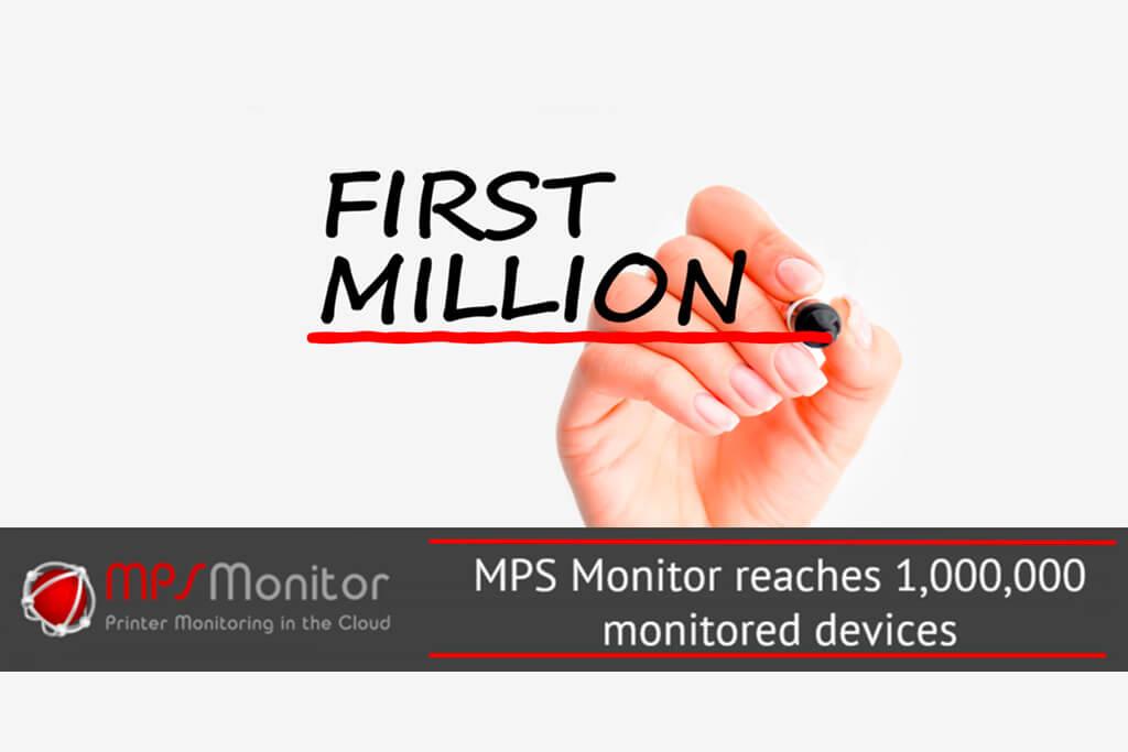 Eine Million Druckgeräte werden nun bereits mit MPS Monitor überwacht.